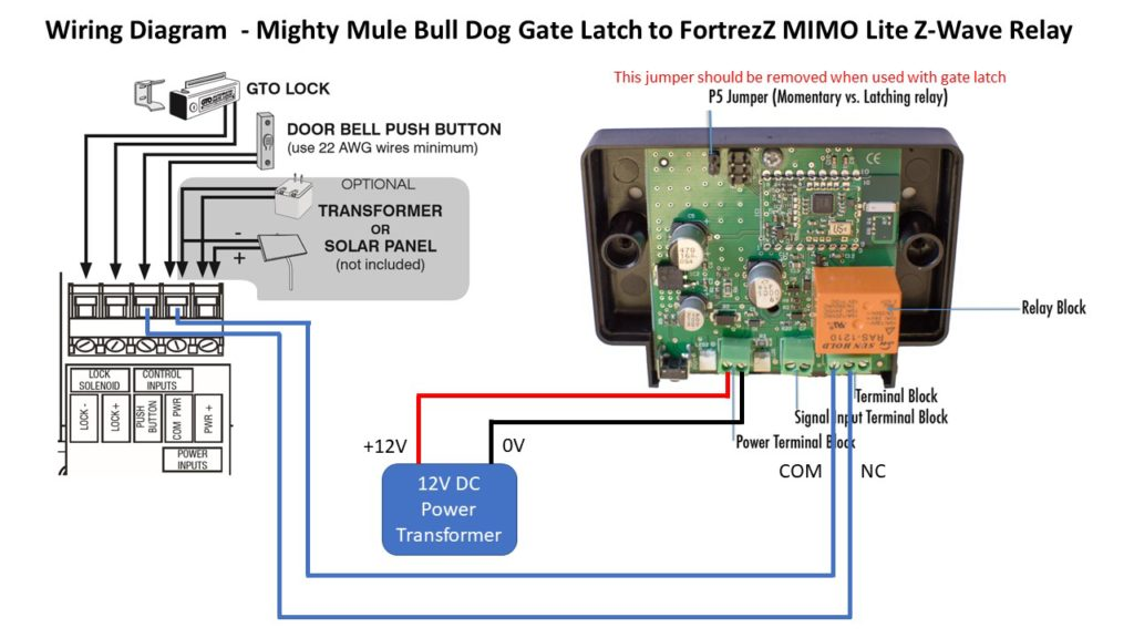 smart gate lock wiring diagram with fortrezz mimo lite