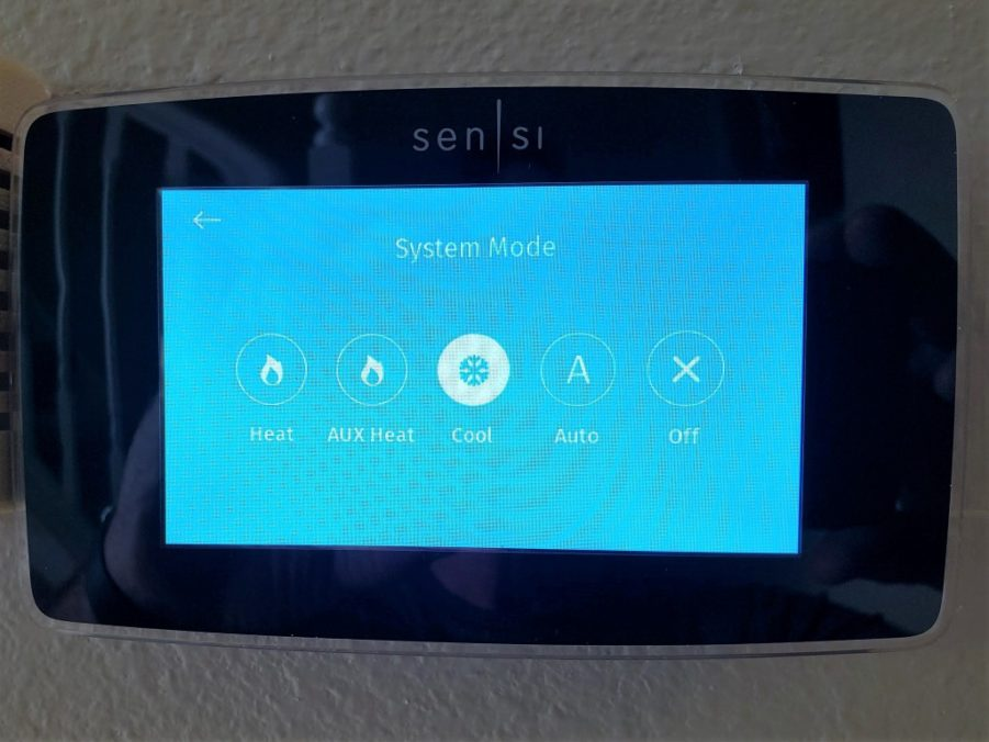 What Is Auxiliary Heat >> Programmable Thermostat For Heat Pump With Emergency Heat