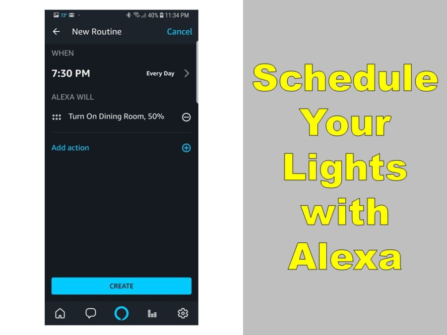 can alexa schedule lights yes how to do it